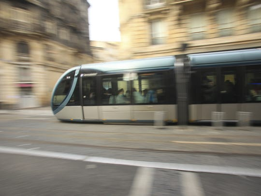 Street car in movement