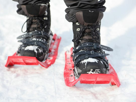 The Badger State Winter Games' snowshoeing portion