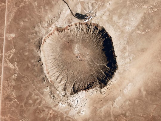 A meteorite impact crater in the northern Arizona desert