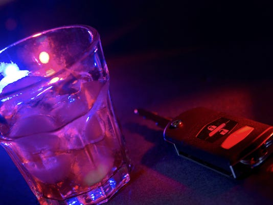 Tile photo showing a drink and car key, drunk driving, DUI, driving drunk, impaired driving