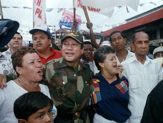 In this May 2, 1989 file photo, Gen. Manuel Antonio