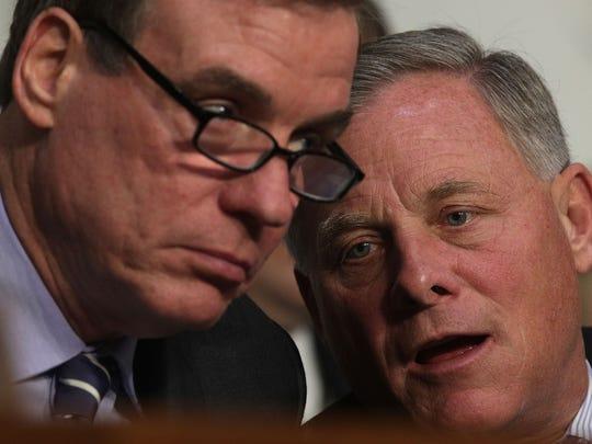Senate Intelligence Chairman Richard Burr talks to