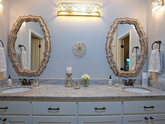 The double master bath vanity is nothing short of beautiful,