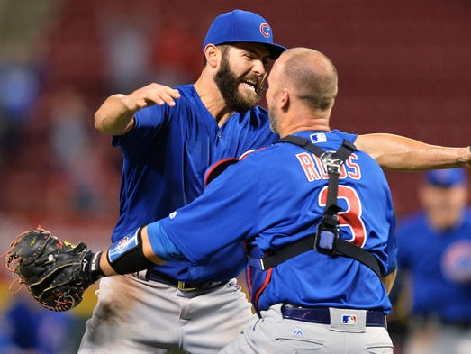 April 21, 2016: Cubs ace Jake Arrieta threw his second