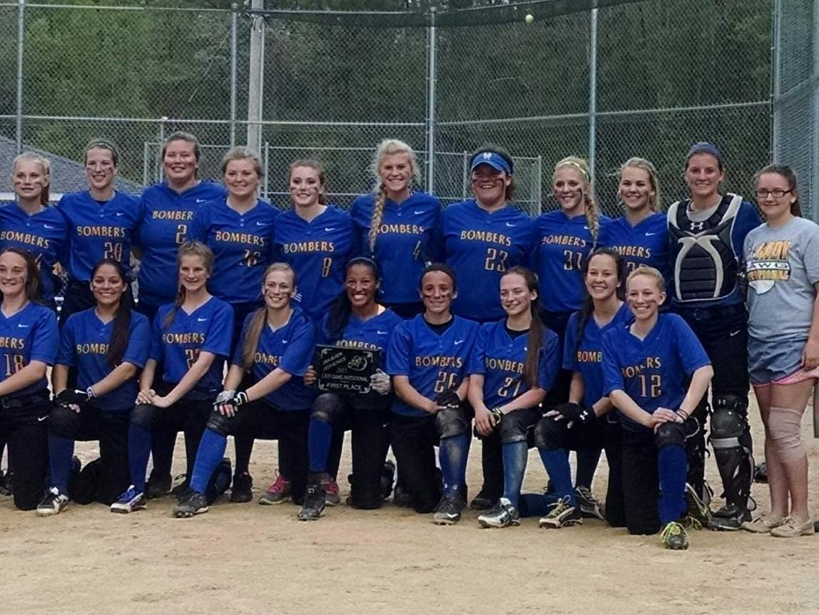 The Mountain Home Lady Bombers repeated as champions of the Lady Dawg Softball Invitational on Saturday at Van Buren, Mo. The team is coached by Bobby Bevel, Josh Low and Scott Small.
