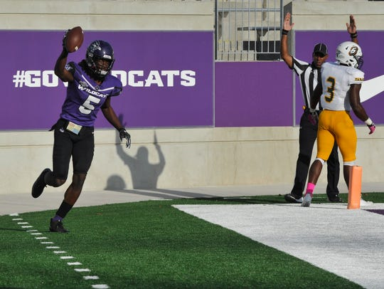 Abilene Christian University wide receiver Troy Grant