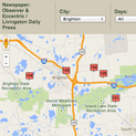 Livingston Daily's interactive garage sale and auction map.