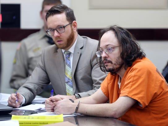 William Thomas-Trudo sits in court Thursday.