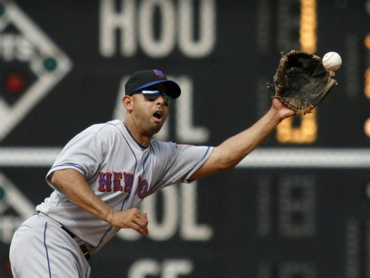 Alex Cora with the Mets in 2010