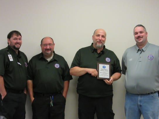 Houston County EMS award winners from left to right: