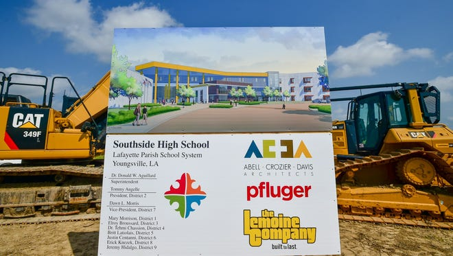Construction started last spring on Southside High. It is scheduled to open in August 2017.