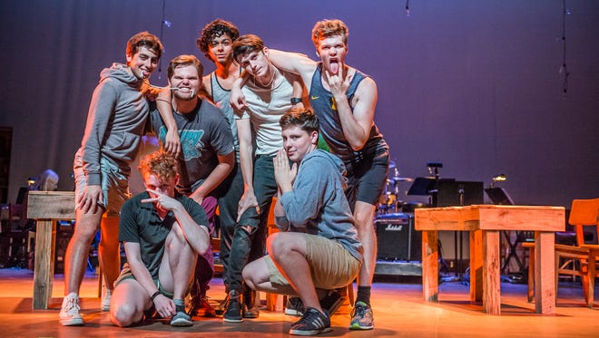 """The cast of Ann Arbor in Concert's """"Spring Awakening"""" put the finishing touches on the show during a rehearsal early last week."""