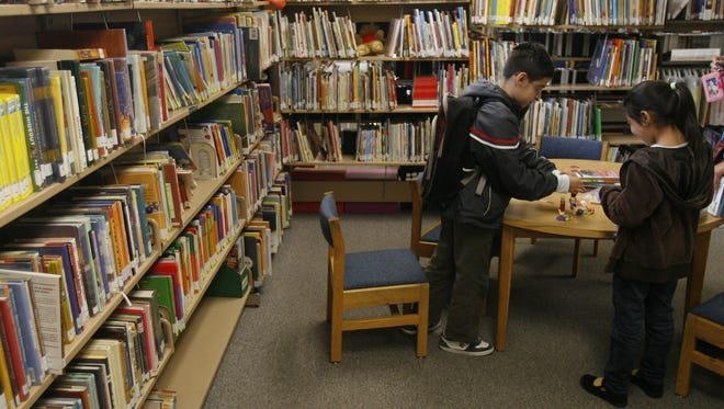Children at the Desert Hot Springs library in 2010. The city previously had not been able to move forward with improvements for the library due to budget constraints.