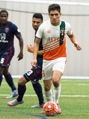 Bucks midfielder Ivo Cerda makes his move in a recent US Open Cup win over the Indy Eleven.