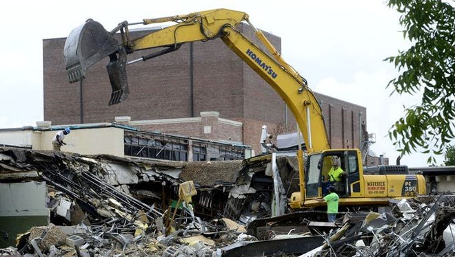 Demolition of the old Pensacola News Journal building will cause the closure of part of Intendencia Street.