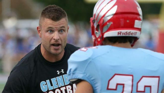 Glendale offensive coordinator Ben Mauk, left, played NCAA Division I college football for Wake Forest and the University of Cincinnati.