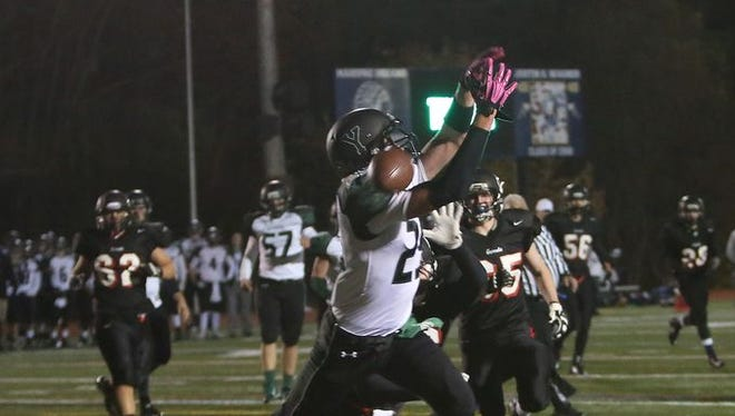 Yorktown and Rye during the Section 1 Class A boys football championship game at Mahopac High School Nov. 8, 2014.
