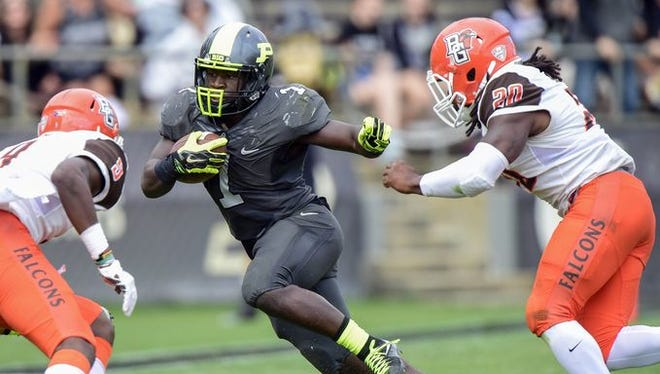 Purdue running back D.J. Knox in the Boilermakers' 35-28 loss to Bowling Green.