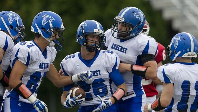 Amherst is the No. 1 team in this week's central Wisconsin readers' prep football rankings.