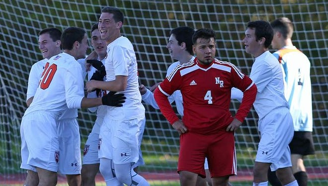 Horace Greeley defeated North Rockland in a boys soccer playoff game at Horace Greeley High School in Chappaqua Oct. 23, 2015.
