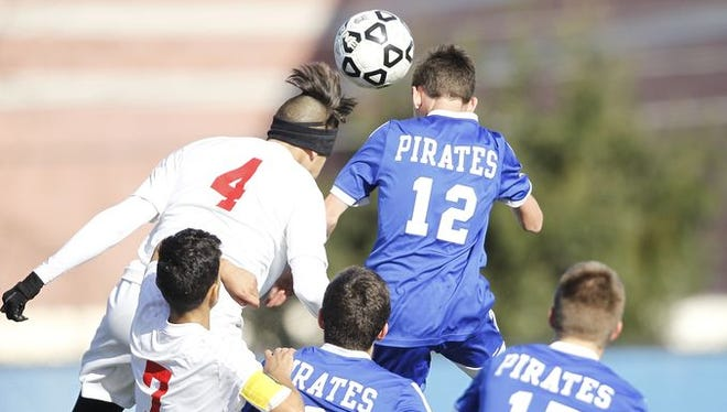 Pearl River falls to Amityville 2-0 in the NYSPHSAA boys class A soccer final at Middletown High School on Sunday, Nov. 15, 2015.