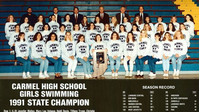 In 1991, winning the state title was no sure thing for the Carmel girls swim team.