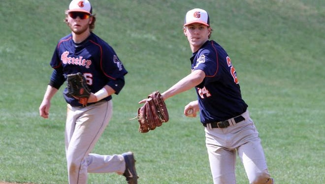 Horace Greeley defeated Stepinac 12-0 in the championship game of the Pat Flaherty Memorial baseball tournament at Suffern High School April 2, 2016.