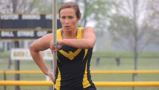 Colonel Crawford senior Callie Ruffener set the Kiwanis Invite Record with a vault of 12-feet-3 on Friday.