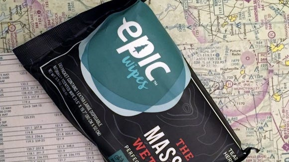 Epic Wipes were designed by a U.S. Army physician.