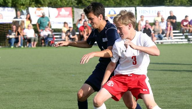Tappan Zee defeated Byram Hills 3-1 during the Westchester vs. Rockland Challenge boys soccer game at World Class Soccer Complex in Orangeburg on Sept. 5, 2016.