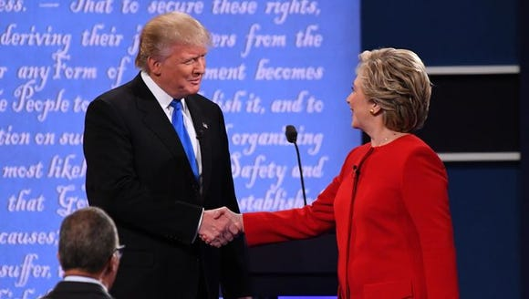 Donald Trump and Hillary Clinton at their first debate