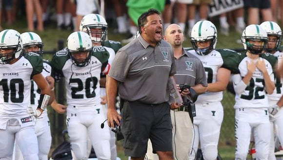 Yorktown coach Mike Rescigno, pictured during his team's