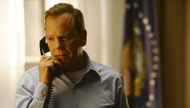 "Kiefer Sutherland plays the titular ""Designated Survivor"" on the ABC TV show."
