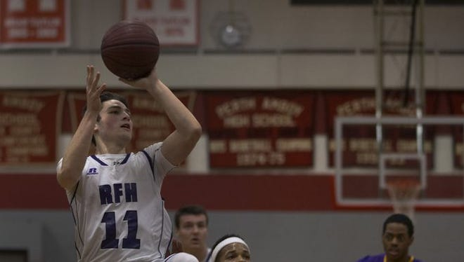 Rumson-Fair Haven's Jack Solano takes a shot against Camden on March 9, 2017 in the NJSIAA Group II State Semifinals