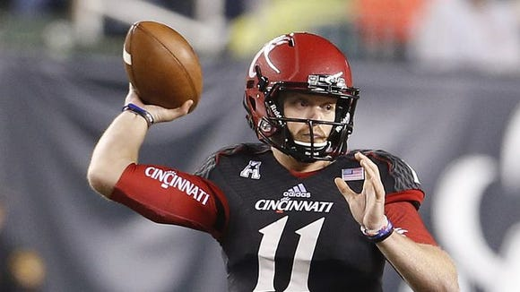 It is unclear whether Gunner Kiel will play for UC in its next game, which is Friday at Tulane.
