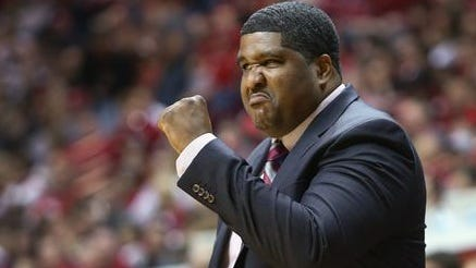 Indiana assistant coach Kenny Johnson.