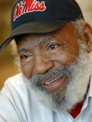 Civil rights icon James Meredith discusses his ideas to improve education in public schools during a recent conversation.