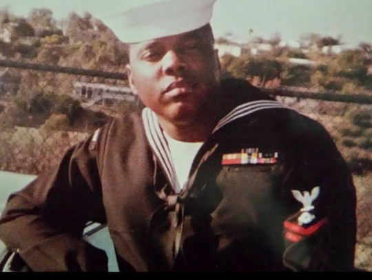 Joseph Johnson when he served in the U.S. Navy.
