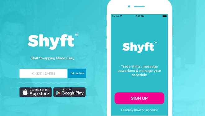 The Shyft app give companies a way to let employees trade workdays, among other features.