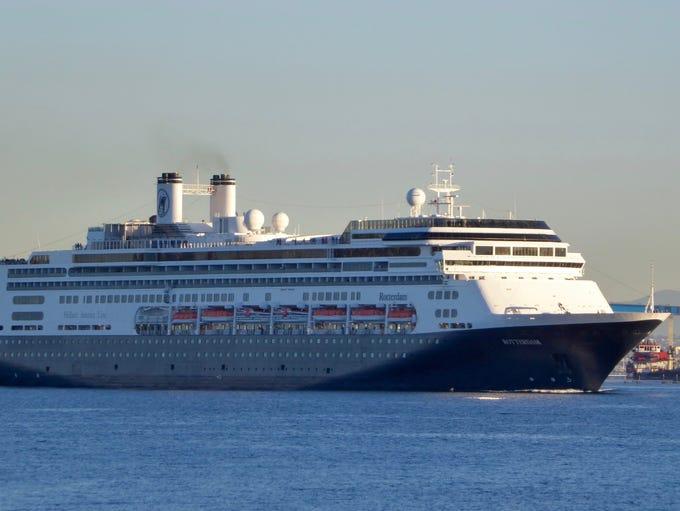 Holland America Line's 59,652-gross-ton, 1,404-guest