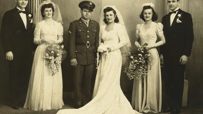 Evelyn (Kocik) Aton and her husband, Douglas, were married in 1943.