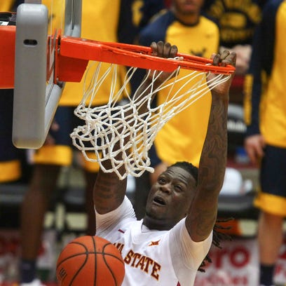 Iowa State senior Jameel McKay dunks the ball against
