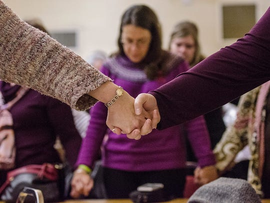 Friends, family and complete strangers joined hands