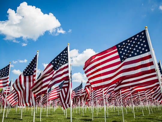 A thousand American flags fly at Minnetrista for the 2018 Flags of Honor.
