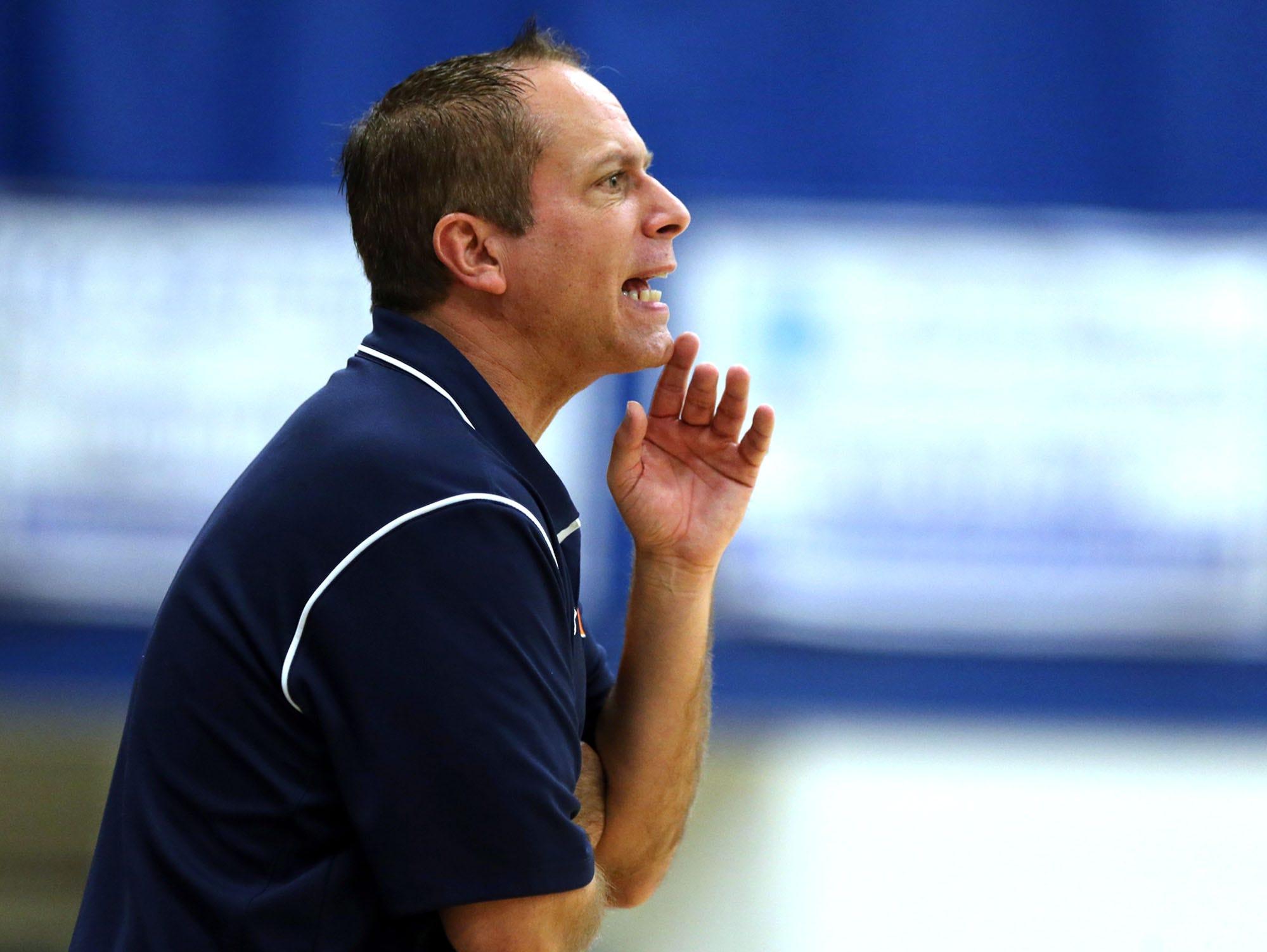 Blackman coach Barry Wortman