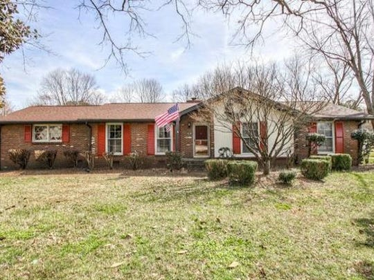This three-bedroom home in Franklin is on a half-acre corner lot.
