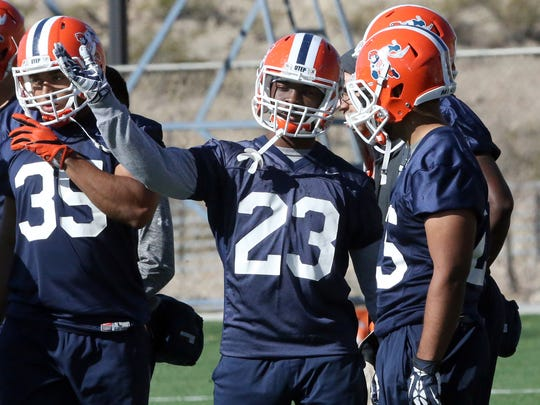 UTEP running back TK Powell, 23, a junior from Fort