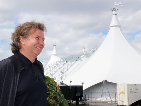 Normand Latourelle and the White Big Top.