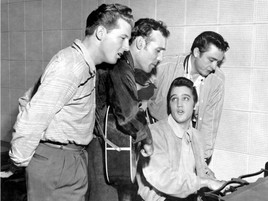 Elvis Presley at the piano,  Jerry Lee Lewis (from