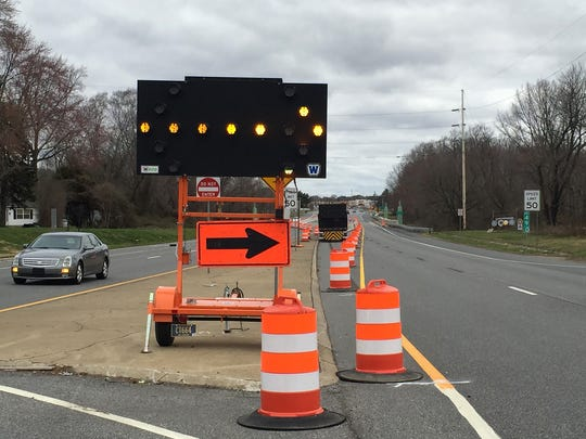 Through mid-May, the bridge over the St. Jones River on northbound/southbound U.S. 13 between Pine Street and Public Safety Boulevard in Dover will require lane closures.